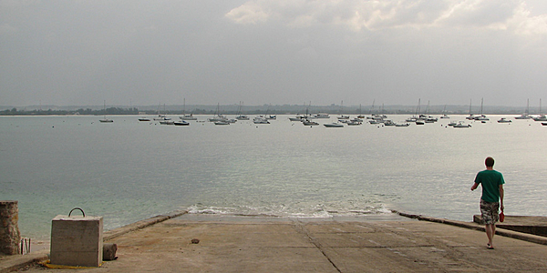 View of Dar es Salaam's port