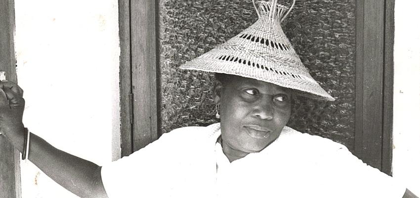 Femme avec coiffe typique du Lesotho