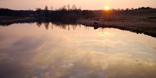 Coucher de soleil sur le Latgale