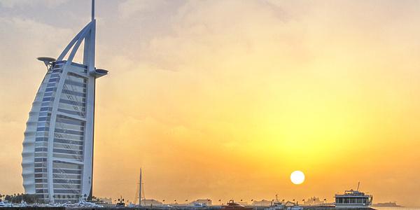 Coucher de soleil sur Burj al Arab