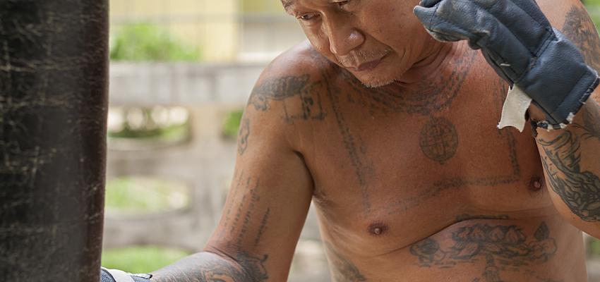 Boxeador tailandés veterano