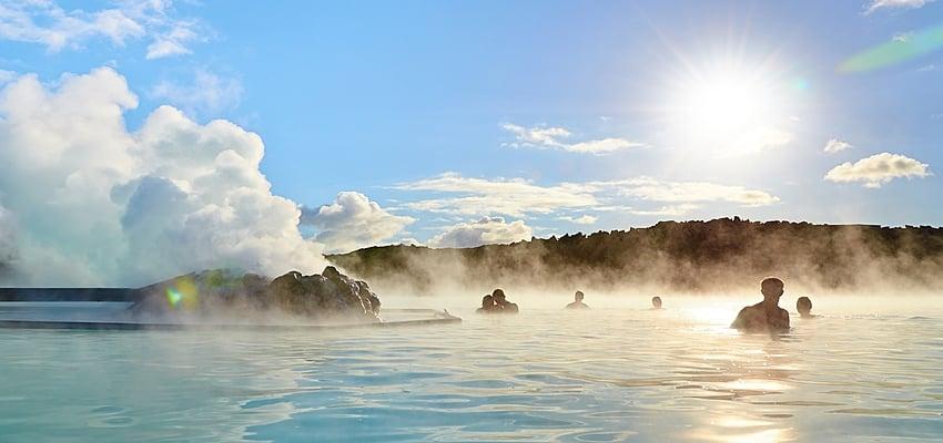 Les eaux de Blue Lagoon, Islande