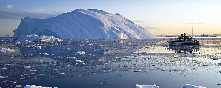 Extension en baie de Disko depuis l'Islande