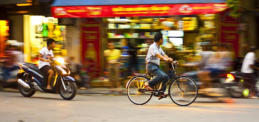Vélo et moto au Vietnam
