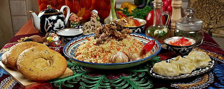 Gastronomie et couleurs ouzbeks