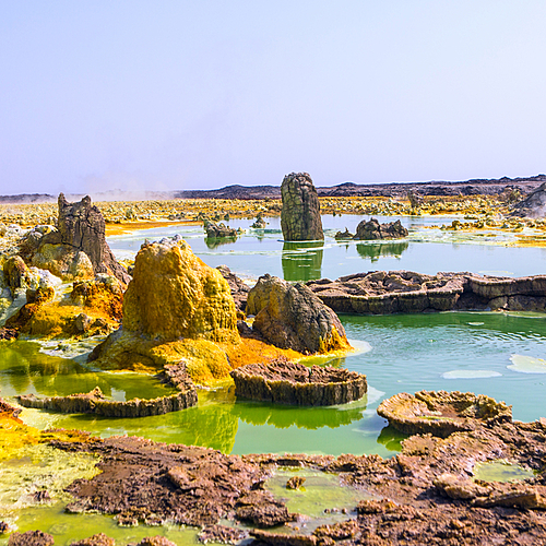 Le Danakil vu du ciel - Addis-Abeba -