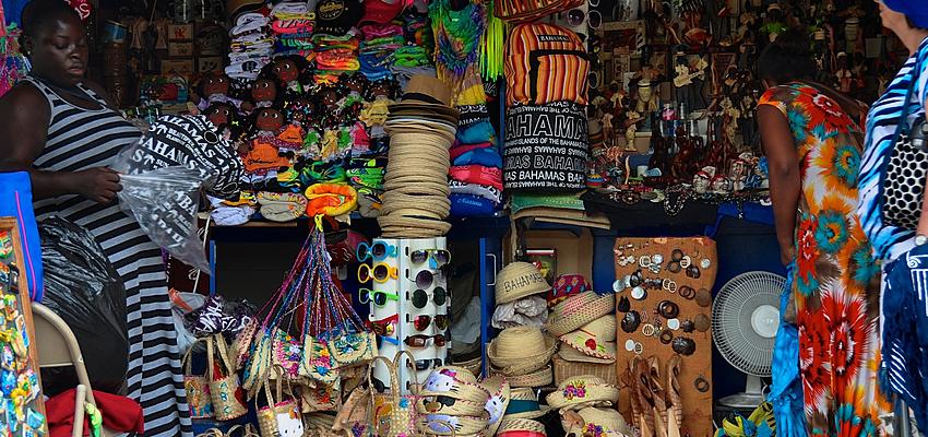Un marché aux Bahamas