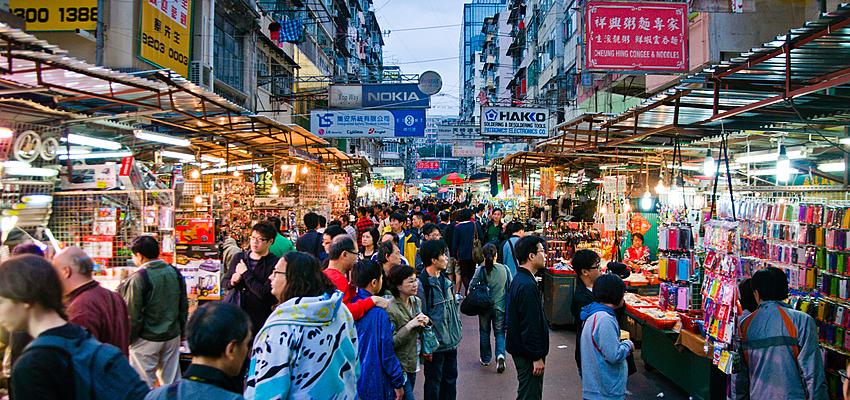 Les rues animées de Hong Kong