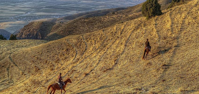 Les montagnes au Kirghizistan