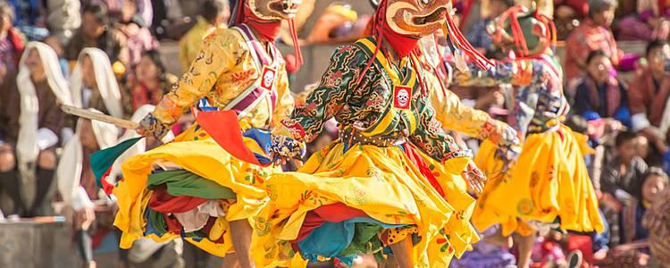 Farbenfrohe Festivals - Thimphu Tshechu