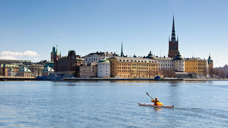Image Archipel de Stockholm en kayak