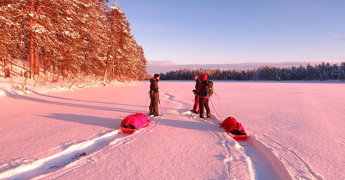 Voyage à la neige : La piste des trappeurs en raquettes, en petit groupe
