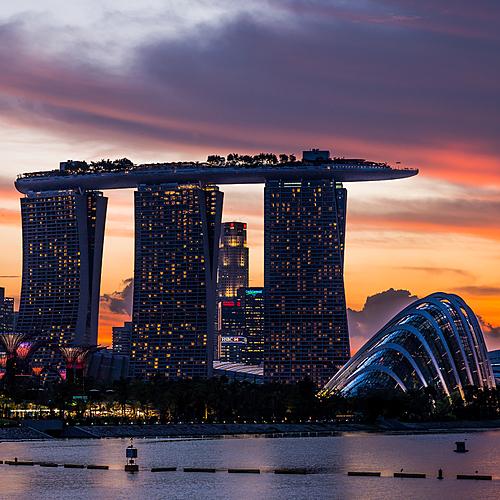 La cité état moderne de Singapour et la péninsule malaise -