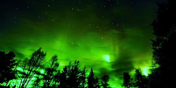 Une aurore boréale à Rovaniemi