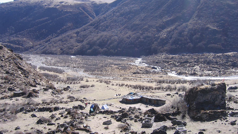 Image Trek Laya Gasa : hauts cols et vallées isolées