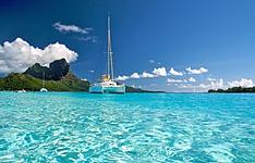 Les Iles sous le vent par la mer