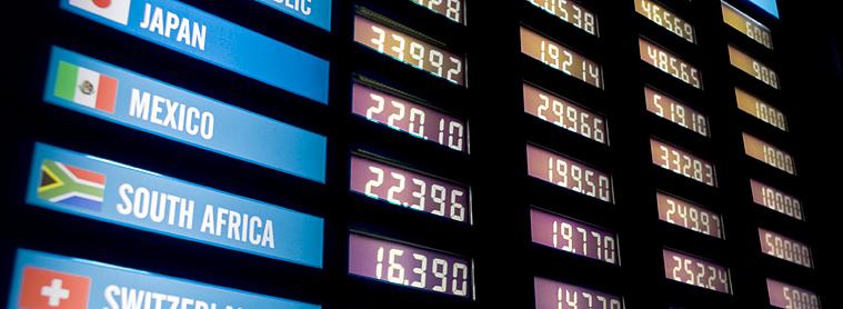 Taux de change - monnaie et devise