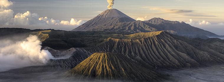 Le Volcan Bromo, après éruption! L'un des dangers de l'Indonésie !