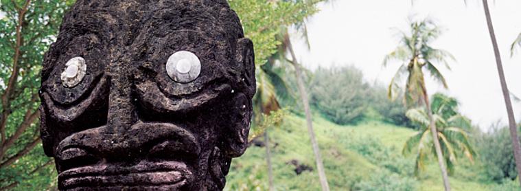 Tahiti, statue