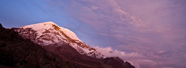 Couchez de soleil sur le volcan Chimborazo, un des incontournable en Equateur !