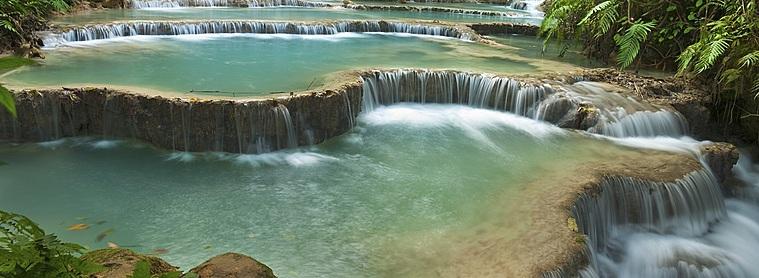 Une cascade du Plateau de Boloven...