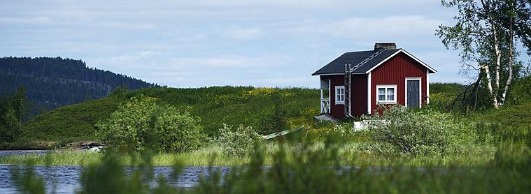 Petite maison typique en Finlande
