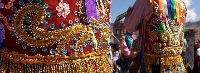Danceurs à Cuzco, fête religieuse