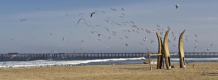 La plage de Huanchaco.