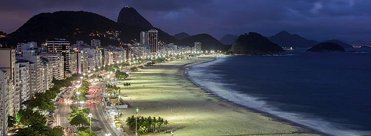 Plage de Copacabana, Rio de Janeiro, Brésil