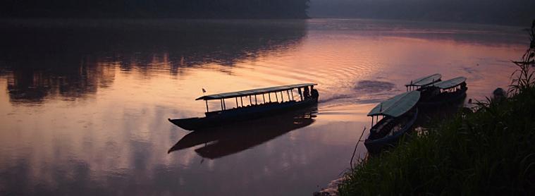Bâteau sur l'Amazone