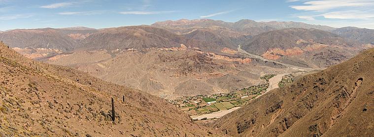 La vallée de Quebrada de Humahuaca