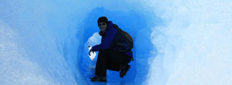 Au coeur d'un glacier en Patagonie !