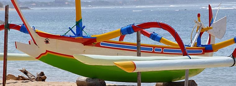 Bateau traditionnel balinais