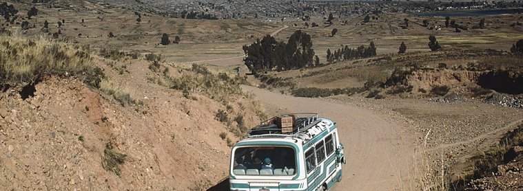 Le moyen de transport courant en Bolivie : le bus !