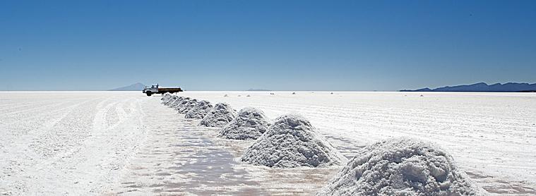 Le fameux désert de sel de Bolivie, le Salar d'Uyuni
