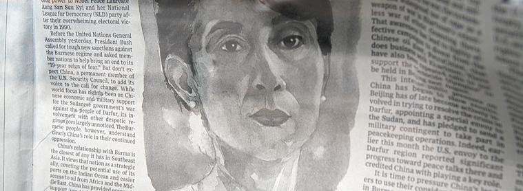 Aung San Suu Kyi en couverture