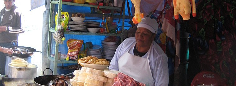 Marché à la Paz, Bolivie