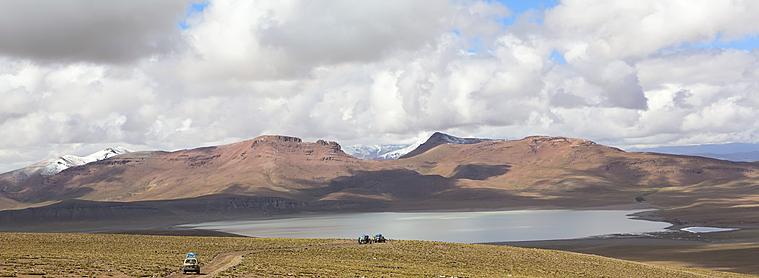Le lagon Mojeron, au niveau des Andes