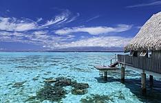 Pilotis, plage et croisière sur lagon turquoise