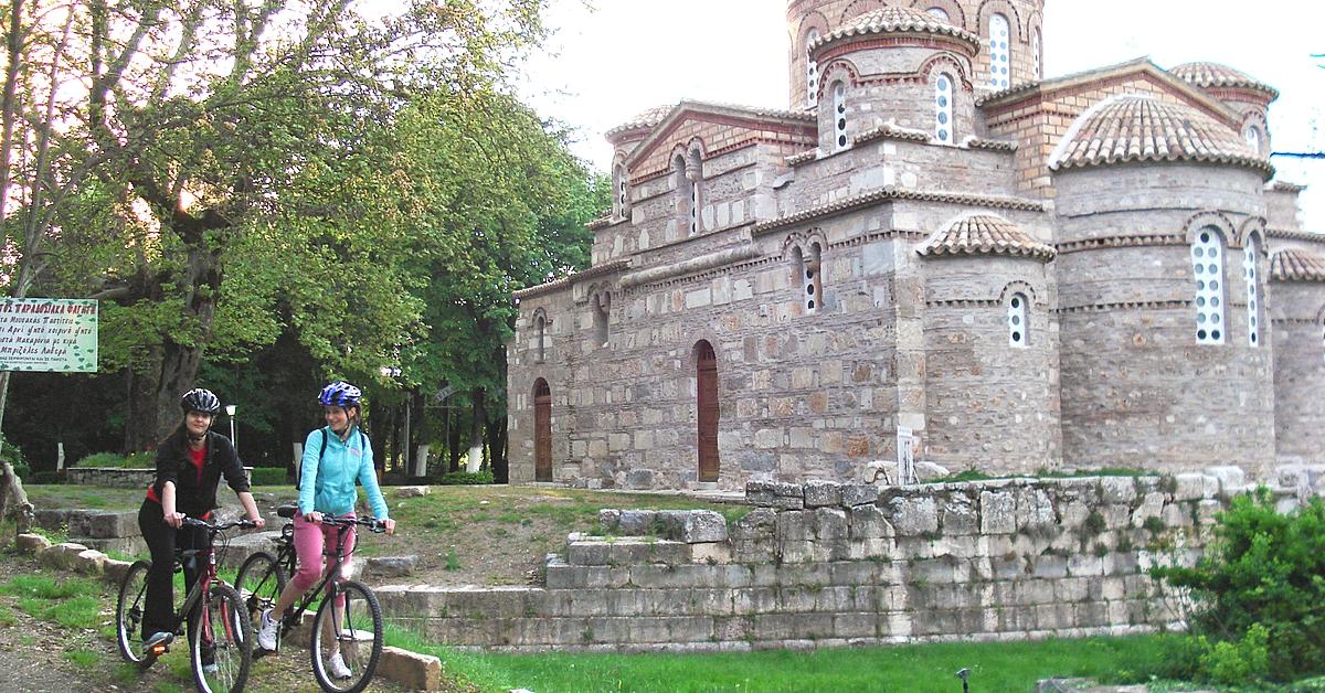 Voyage en véhicule Grèce : Randonnée archéologique et culturelle à vélo