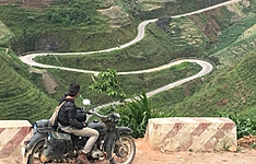 Voyage en moto dans les montagnes du Nord-Vietnam-En petit groupe