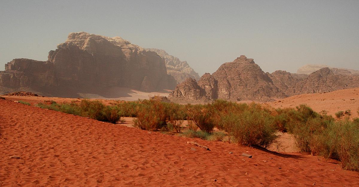 Voyage à pied : Randonnée du Mont Nébo au Wadi Rum en groupe